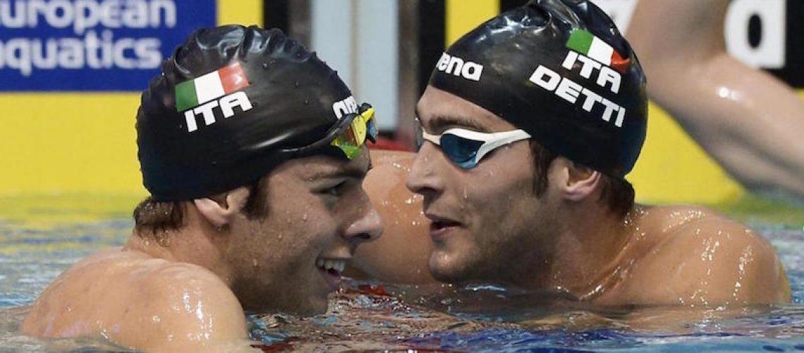 Gregorio Paltrinieri e Gabriele Detti, campioni europei e medagliati olimpici.