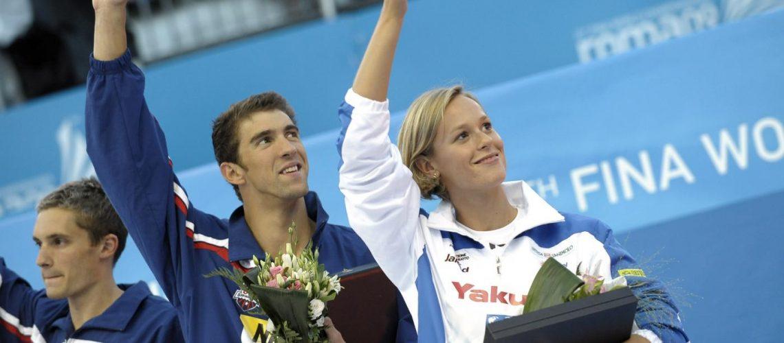Michael Phelps e Federica Pellegrini a Roma 2009