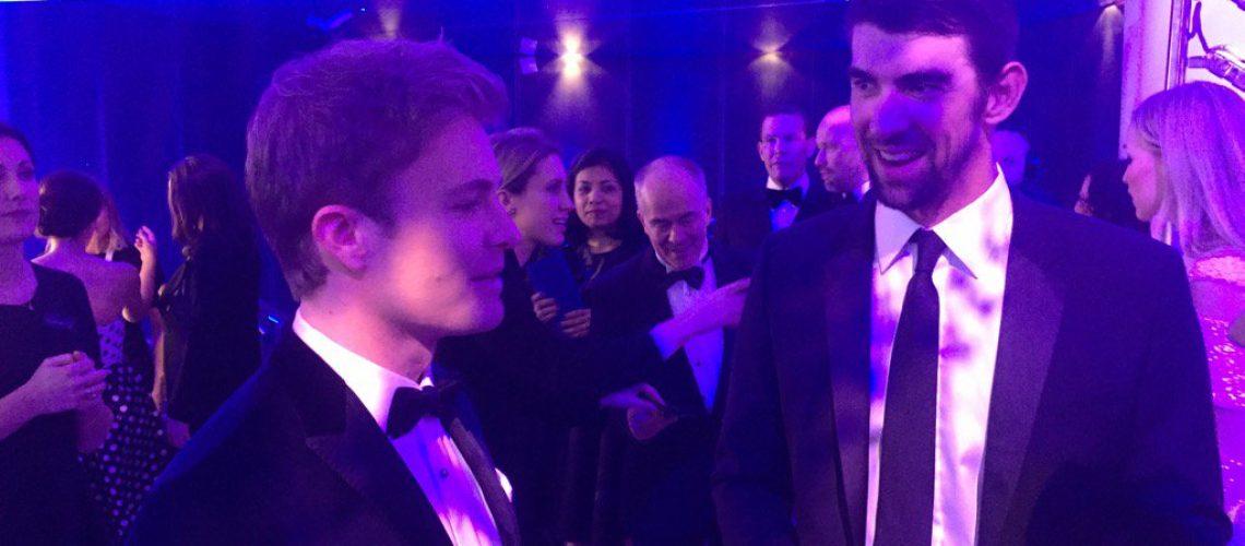 Phelps e Rosberg