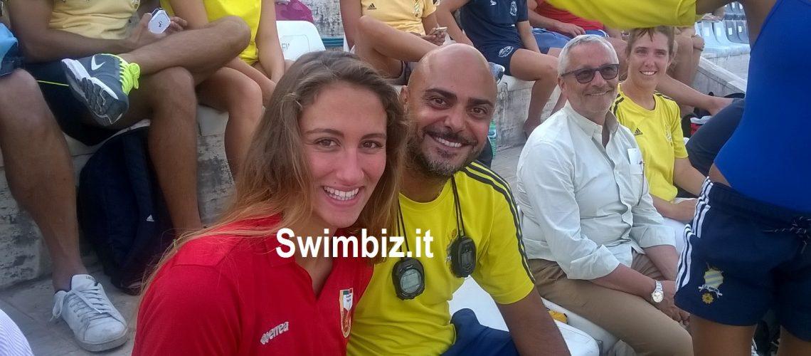 Simona Quadarella e il tecnico Christian Minotti