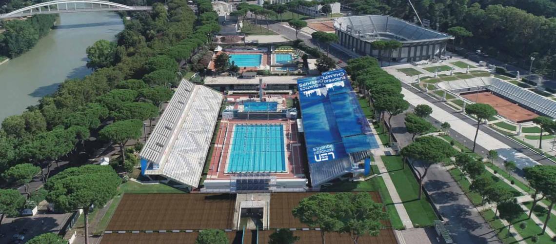 Il progetto preliminare per l'adeguamento dello Stadio del Nuoto per Roma 2022