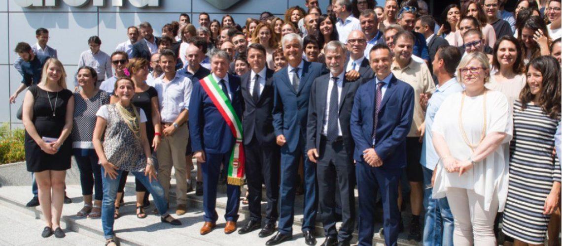 La visita del Premier Matteo Renzi alla sede Arena di Tolentino