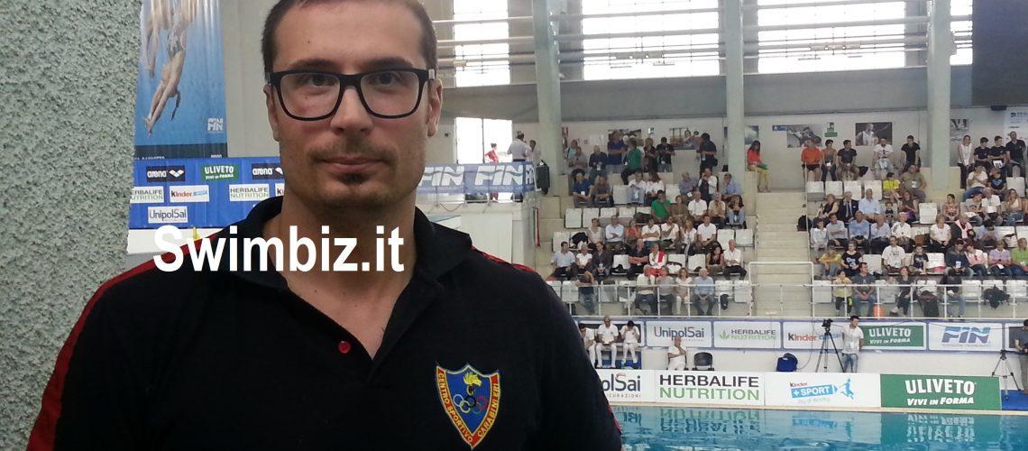 Christopher Sacchin, tecnico ed ex bronzo mondiale di tuffi