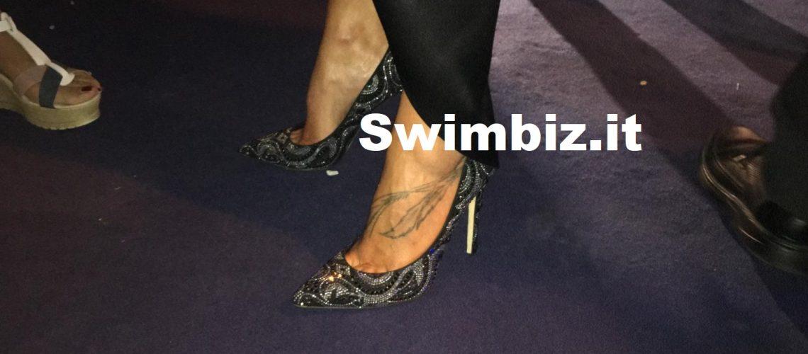 Le scarpe super glam di Federica Pellegrini