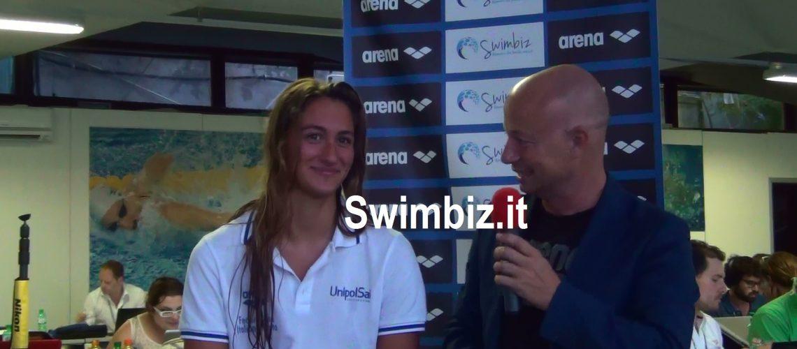 Simona Quadarella al Salotto Acquatico di Swimbiz.it