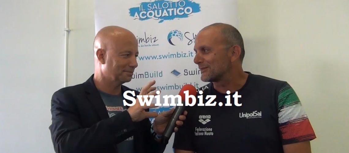 Simone Palombi al Salotto Acquatico di Swimbiz
