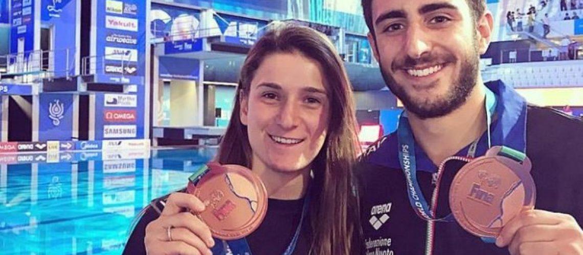 I bronzi mondiali Elena Bertocchi e Giovanni Tocci