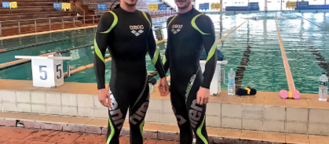 Federico Vanelli e SImone Ruffini in muta