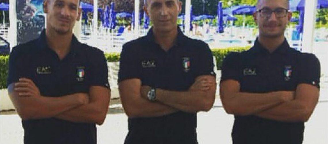 Federico Vanelli, Emanuele Sacchi e Simone Ruffini.