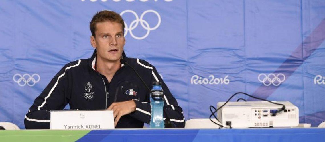 Yannick Agnel in conferenza stampa a Rio 2016