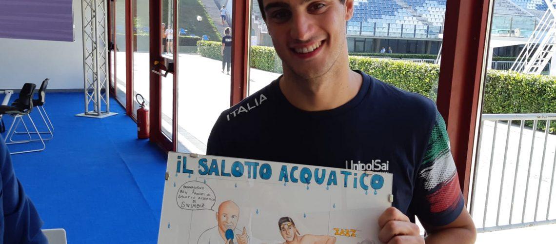 Lorenzo Zazzeri e la sorpresa per Swimbiz